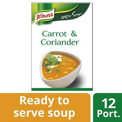 Knorr 100% Soup Carrot & Coriander 12 Portions -
