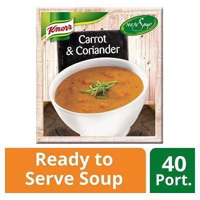 Knorr 100% Soup Carrot & Coriander 4 x 2.4L