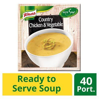 Knorr 100% Soup Country Chicken & Vegetable 4 x 2.4L -