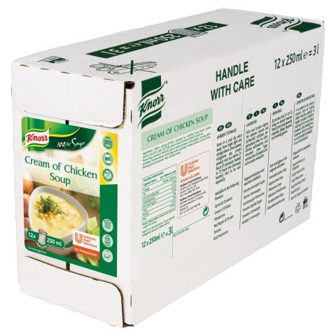 Knorr 100% Soup Cream of Chicken 12 individual portions