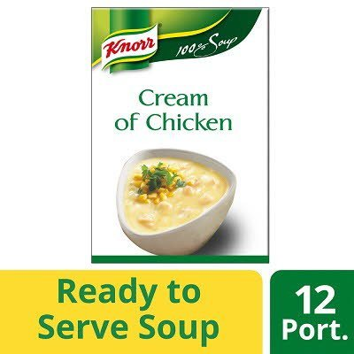 Knorr 100% Soup Cream of Chicken 12 Portions -