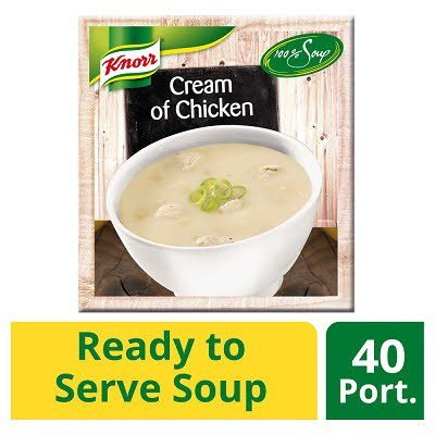 KNORR 100% Soup Cream of Chicken 4 x 2.4L