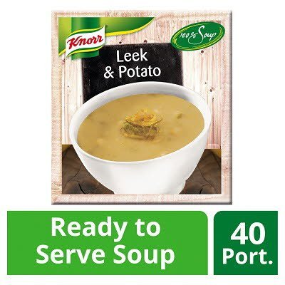 KNORR 100% Soup Leek & Potato 4 x 2.4L