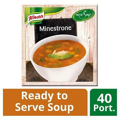 Knorr 100% Soup Minestrone 4 x 2.4L