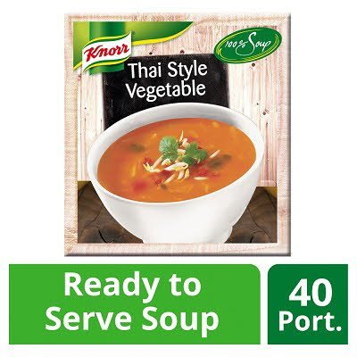 Knorr 100% Soup Thai Style Vegetable 4 x 2.4L -
