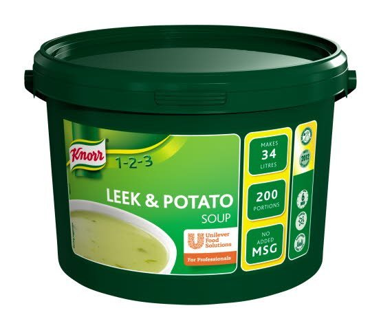Knorr 123 Leek & Potato 200 portions