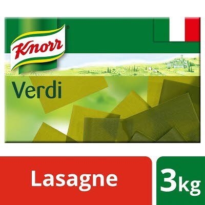Knorr Pasta Lasagne Verdi 3kg