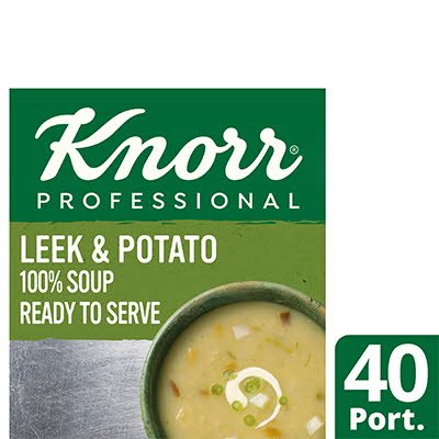 Knorr Professional 100% Soup Leek & Potato 4x2.4L -