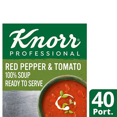 Knorr Professional 100% Soup Red Pepper & Tom 4x2.5kg -