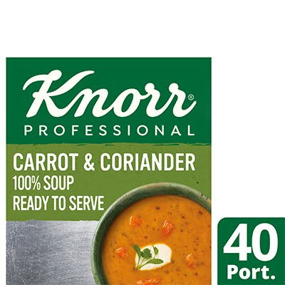 KnorrProfessional 100% Soup Carrot&Coriander 4x2.4L -