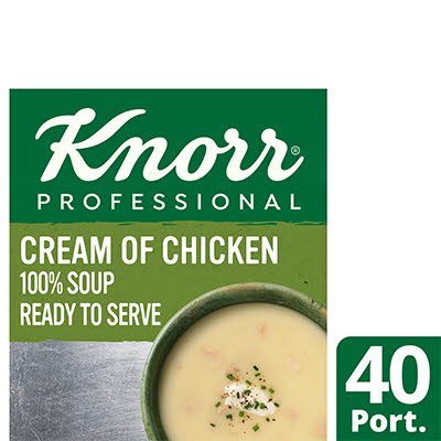 KnorrProfessional 100% Soup CreamofChicken 4x2.4L -
