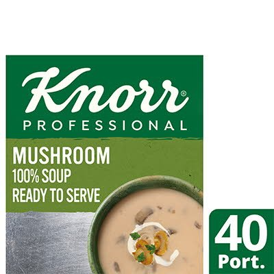 KnorrProfessional 100% Soup CreamofMushroom 4x2.4L -