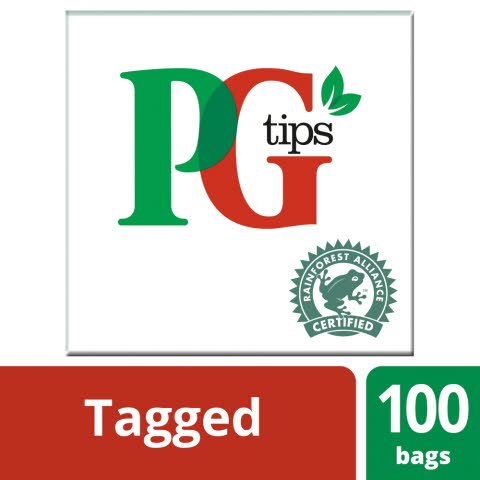 PG tips 100 Tagged Tea Bags -