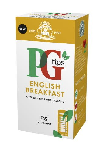 PG tips English Breakfast Tea 25 Enveloped Bags