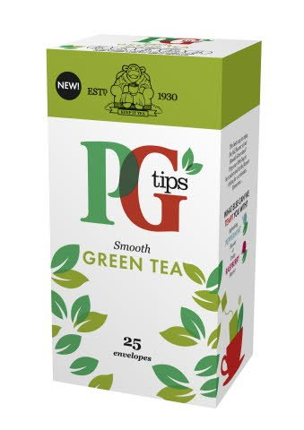 PG tips Green Tea 25 Enveloped Bags -