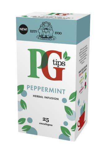 PG tips Peppermint Tea 25 Enveloped Bags