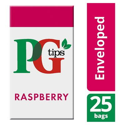 PG tips Raspberry Tea 25 Enveloped Bags -