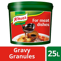 KNORR Gluten Free Gravy Granules for Meat Dishes 25L
