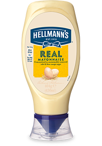 HELLMANN'S Real Mayonnaise Squeeze Bottle 430ml