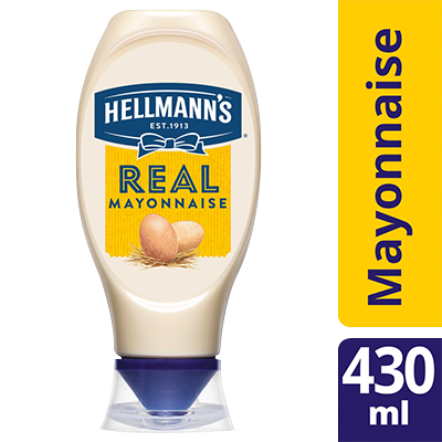 HELLMANN'S Real Squeezy Mayonnaise 430ml - HELLMANN'S Real Mayonnaise Squeezy 430ml