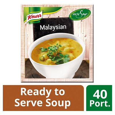 Knorr 100% Malaysian Soup 4 x 2.4L - Delight your customers with new Asian style Knorr 100% Soups.