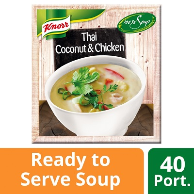 Knorr 100% Thai Coconut & Chicken Soup 4 x 2.4L