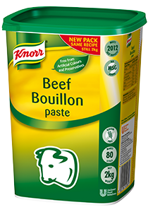 KNORR Beef Paste Bouillon 2kg - Voted the best stock three years running*