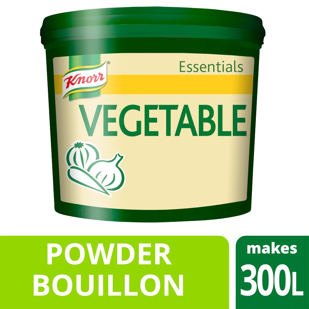 KNORR Essentials Vegetable Bouillon Powder 1x 3 KG - Make it easy with Knorr Essentials Vegetable Bouillon Powder