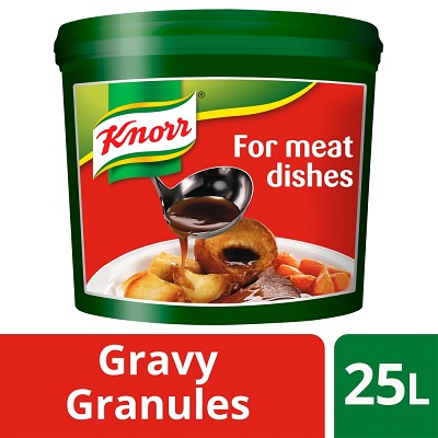 KNORR Gluten Free Gravy Granules for Meat Dishes 25L - KNORR Gravy Granules make a great gravy that is gluten-free