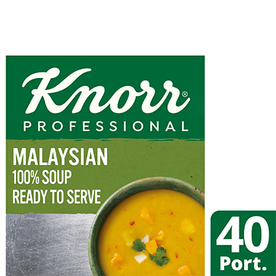 Knorr Professional 100% Soup Malaysian 4 x 2.4L - Delight your customers with new Asian style Knorr 100% Soups.