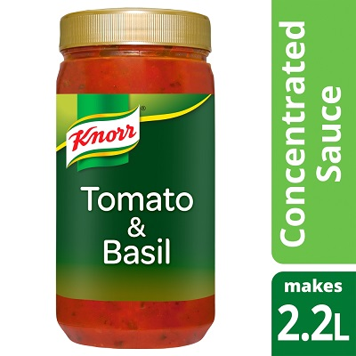 KNORR Tomato & Basil Concentrated Sauce 1.1L - KNORR's concentrated sauce goes twice as far