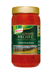 KNORR's concentrated sauce goes twice as far