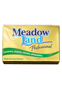 MEADOWLAND Professional 250g - SAMPLE OFFER! Get 10 blocks of 250g for FREE - MEADOWLAND Professional is up to 50% cheaper than butter*