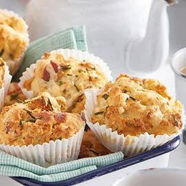 Smoked bacon and chive mini muffin