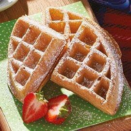 Spelt waffle with maple chantilly