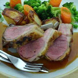 Pub - Roast rack of lamb with merlot gravy