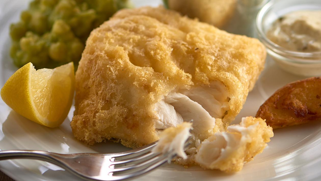 Battered Cod and Mushy Peas – recipe