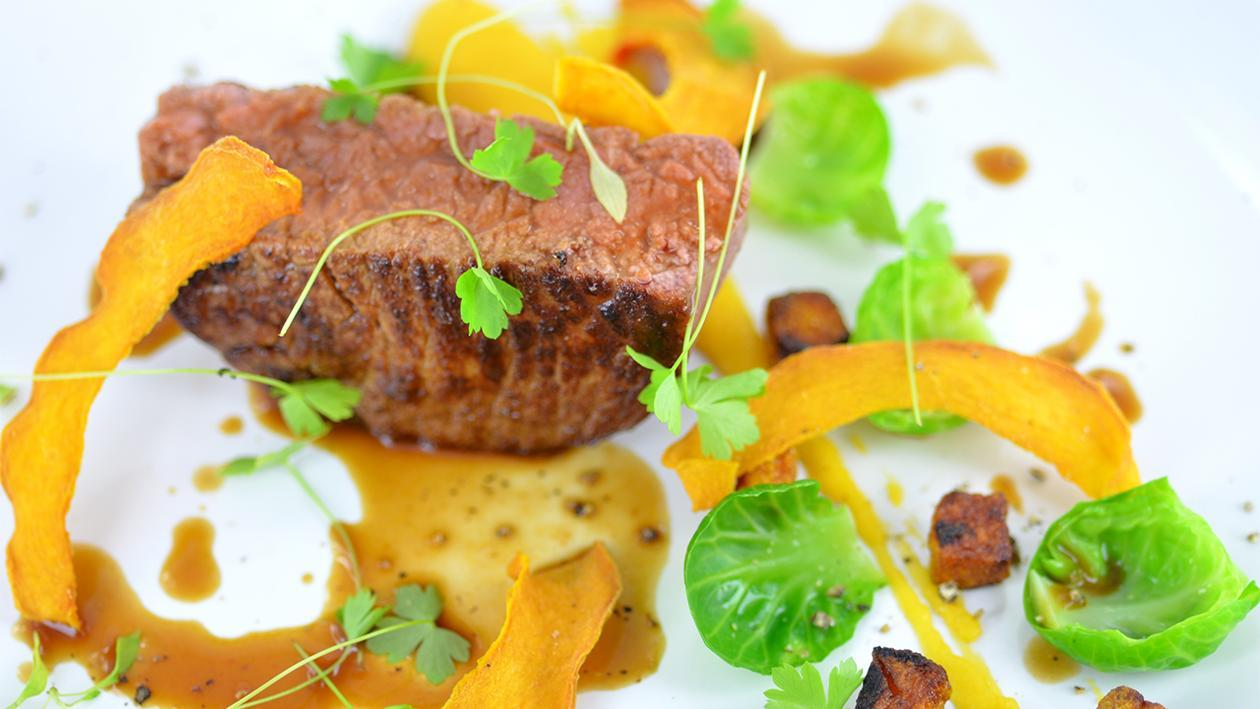 Beef fillet with butternut squash – recipe
