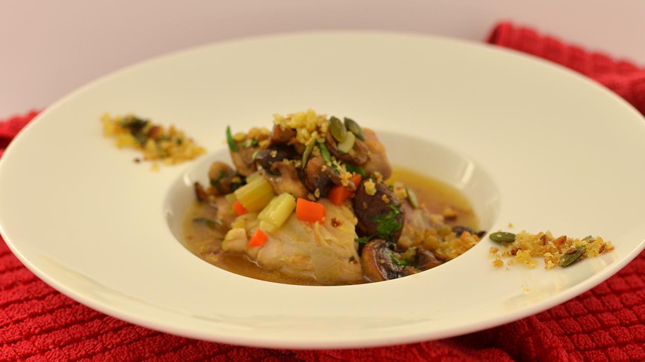 Braised chicken casserole  – recipe