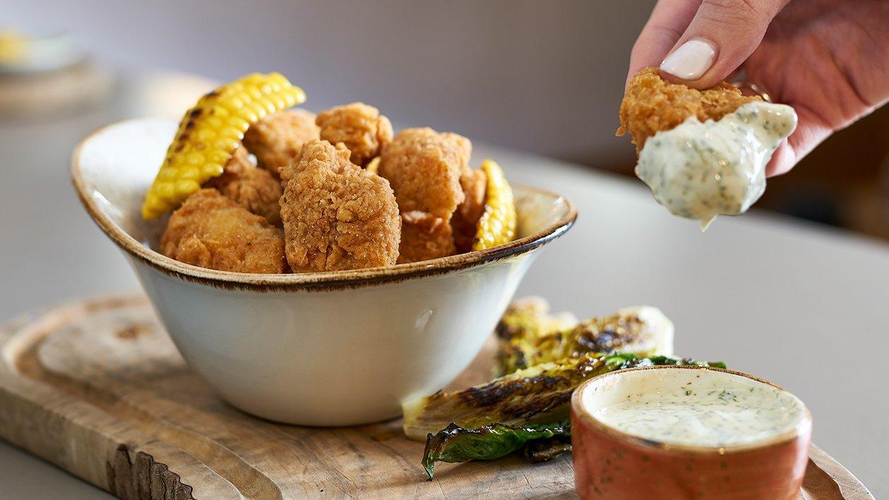 Buttermilk Fried NoChicken with ranch sauce – recipe