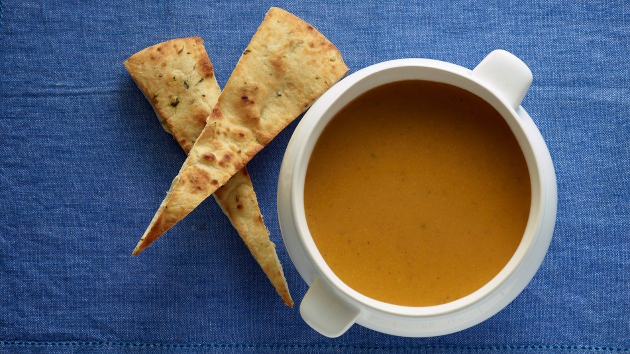 Chicken with spiced squash Soup – recipe