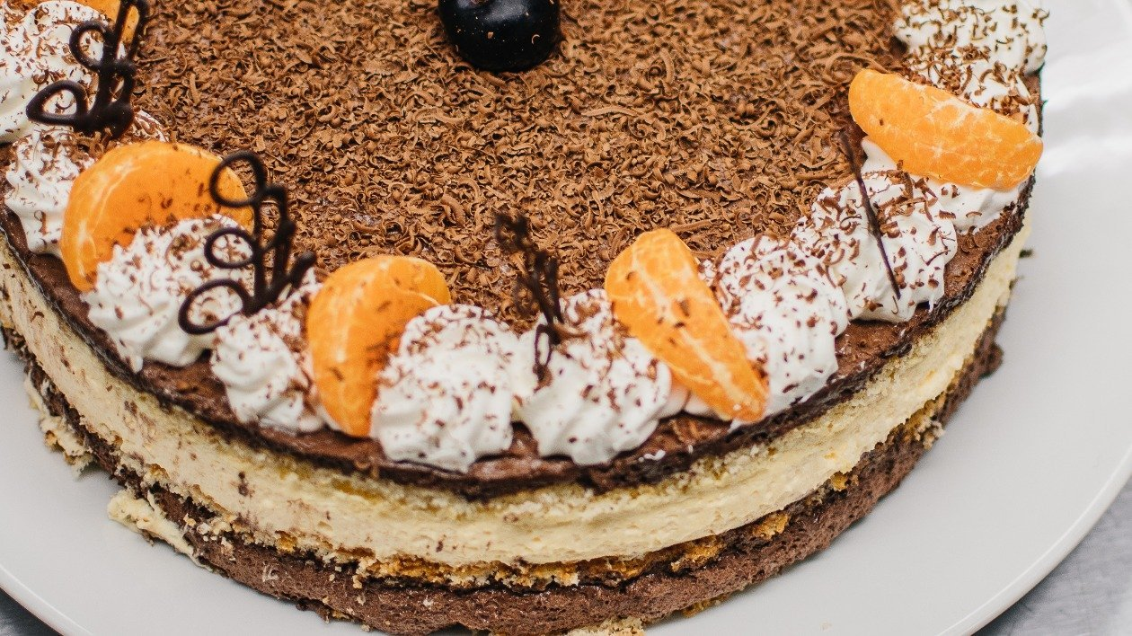 Chocolate and Mango Gateau – recipe