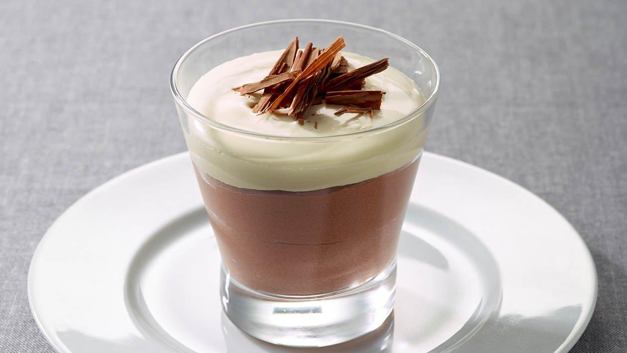 Chocolate Coffee Mousse with Irish Whiskey Cream  – recipe