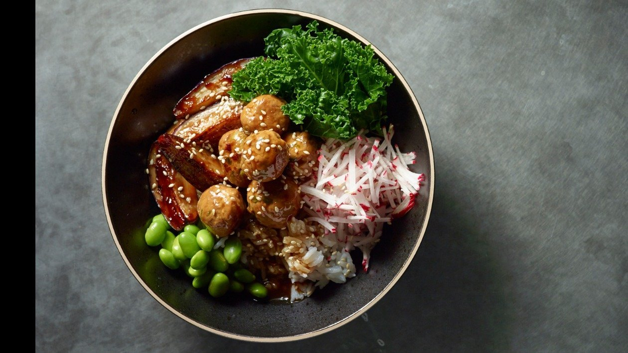 Donburi - Sticky Teriyaki Meatballs – recipe