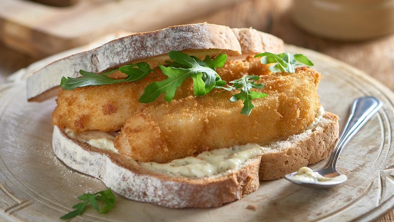 Fish finger sandwich with Tartare sauce – recipe