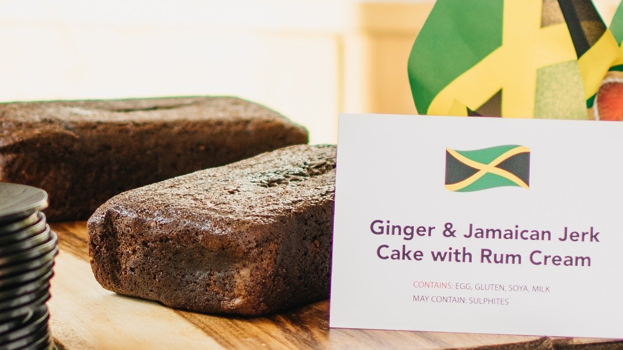 Ginger and Jamaican Jerk Cake with Rum cream – recipe