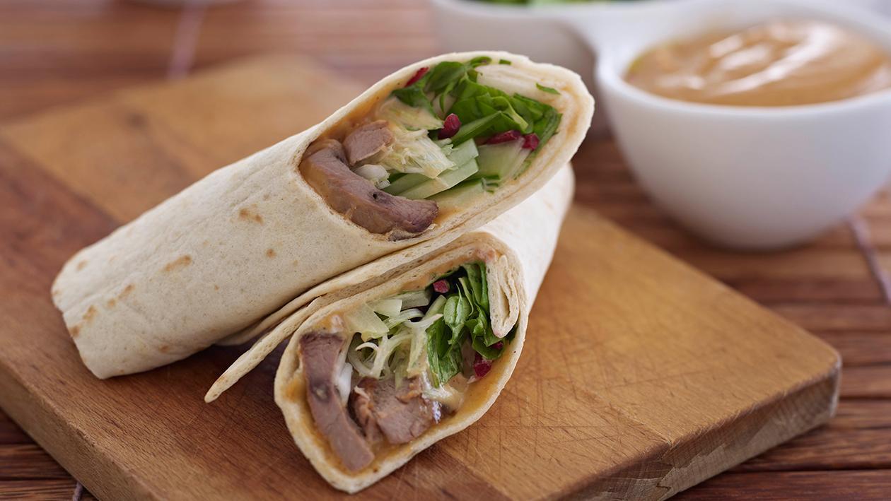 Hoi Sin chicken wraps – recipe