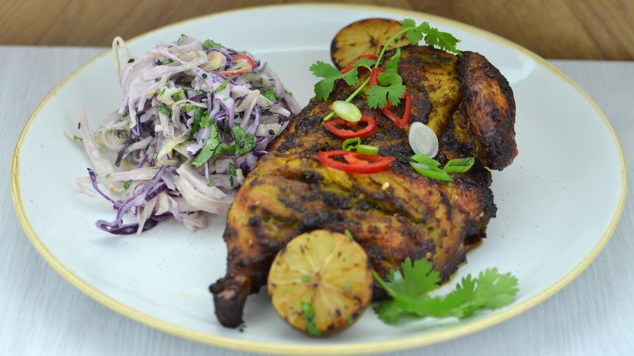 Kai Lang chicken with Asian slaw – recipe