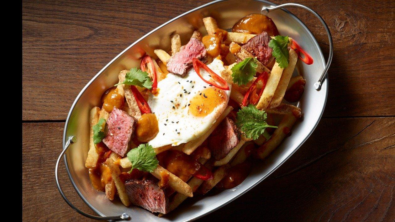Katsu Steak Poutine – recipe