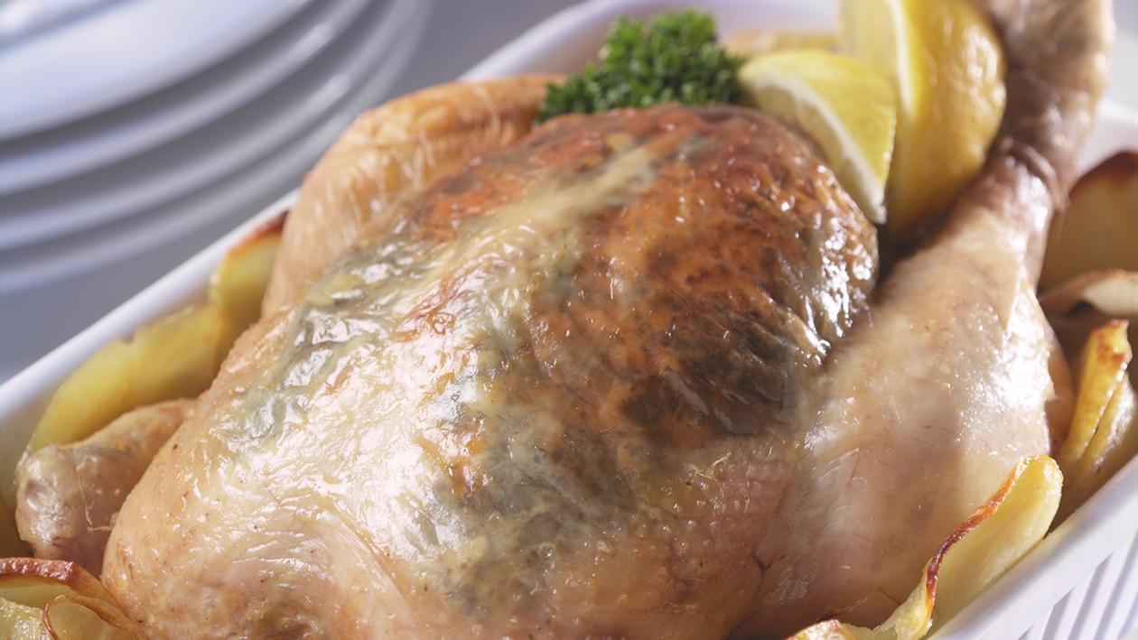 Lemon & thyme roast chicken  – recipe